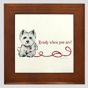 Westhighland White Terrier Re Framed Tile