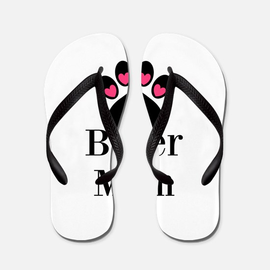 Boxer Mom Paw Print Flip Flops