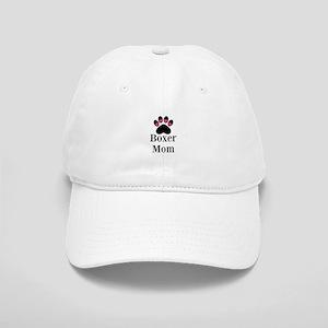 Boxer Mom Paw Print Baseball Cap