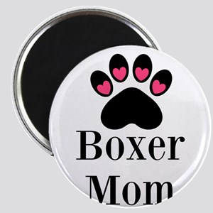 Boxer Mom Paw Print Magnets