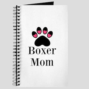 Boxer Mom Paw Print Journal