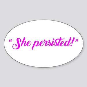SHE PERSISTED. Sticker