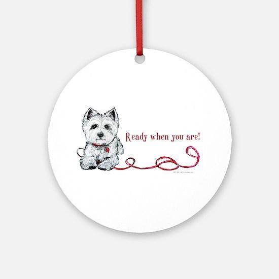 Westhighland White Terrier Re Ornament (Round)