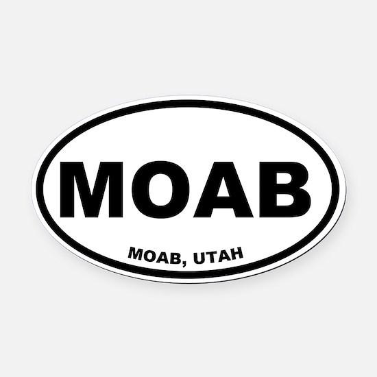 Moab Oval Car Magnet