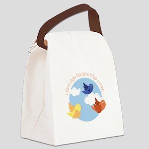 Birds Sing Canvas Lunch Bag