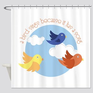 Birds Sing Shower Curtain