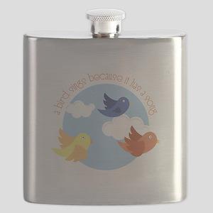 Birds Sing Flask