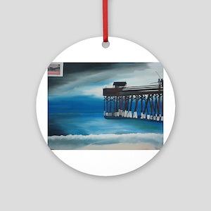 Cocoa Beach Peir Ornament (Round)