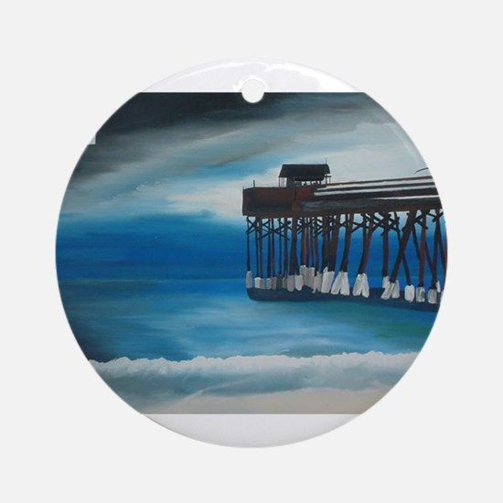 Cocoa Beach Peir Ornament (Round)