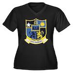 USS MANLEY Women's Plus Size V-Neck Dark T-Shirt