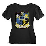 USS MANL Women's Plus Size Scoop Neck Dark T-Shirt