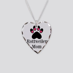 Rottweiler Mom Paw Print Necklace