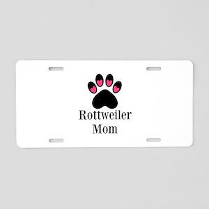 Rottweiler Mom Paw Print Aluminum License Plate