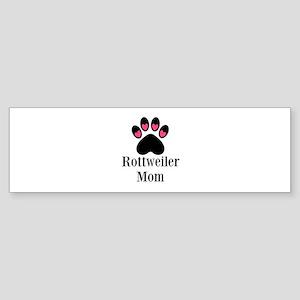 Rottweiler Mom Paw Print Bumper Sticker