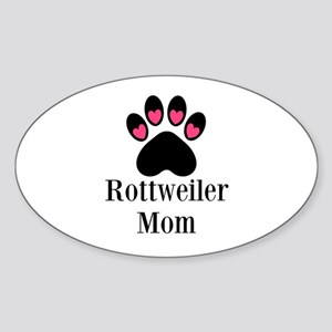 Rottweiler Mom Paw Print Sticker