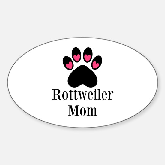 Rottweiler Mom Paw Print Decal