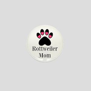 Rottweiler Mom Paw Print Mini Button
