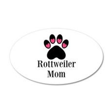 Rottweiler Mom Paw Print Wall Decal