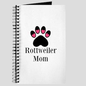 Rottweiler Mom Paw Print Journal
