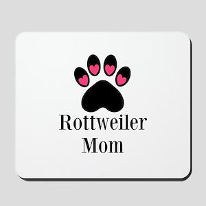 Rottweiler Mom Paw Print Mousepad