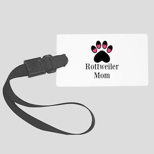 Rottweiler Mom Paw Print Luggage Tag