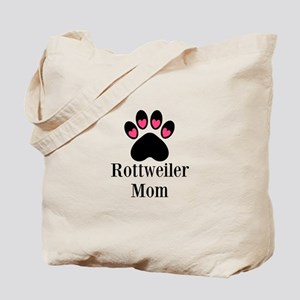 Rottweiler Mom Paw Print Tote Bag
