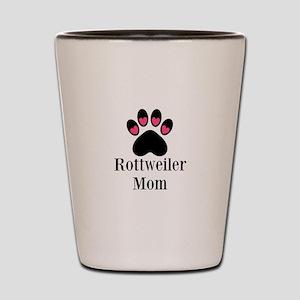 Rottweiler Mom Paw Print Shot Glass