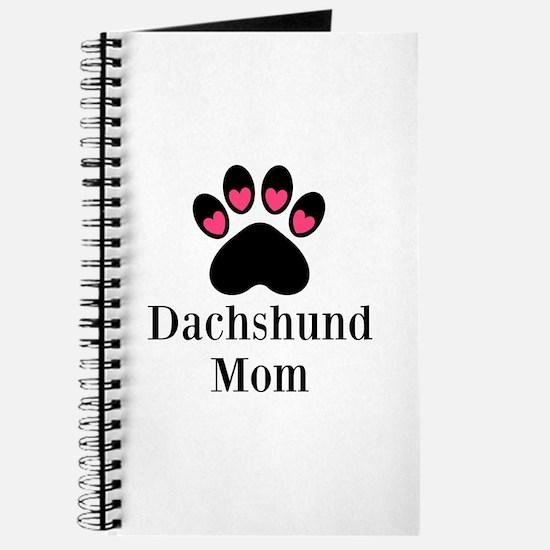 Dachshund Mom Paw Print Journal