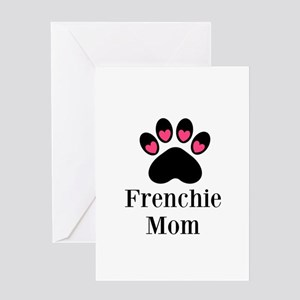 Frenchie Mom Paw Print Greeting Cards