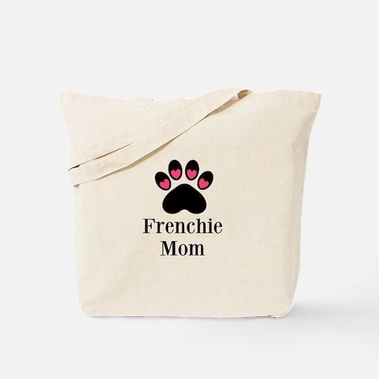 Frenchie Mom Paw Print Tote Bag