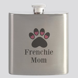Frenchie Mom Paw Print Flask