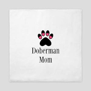 Doberman Mom Queen Duvet
