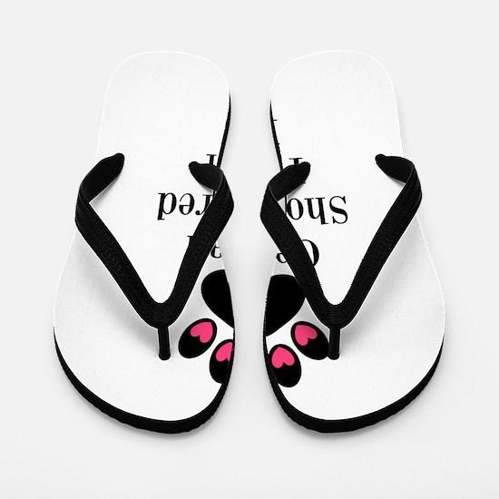 German Shorthaired Pointer Mom Paw Print Flip Flop
