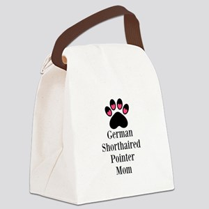 German Shorthaired Pointer Mom Paw Print Canvas Lu