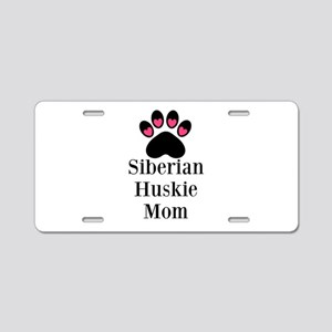 Siberian Huskie Mom Aluminum License Plate