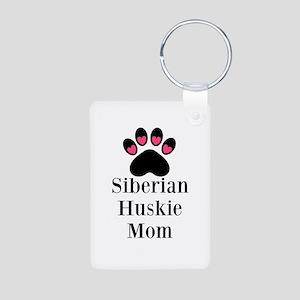 Siberian Huskie Mom Keychains