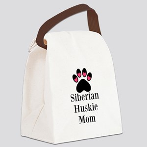Siberian Huskie Mom Canvas Lunch Bag