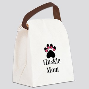 Huskie Mom Paw Print Canvas Lunch Bag