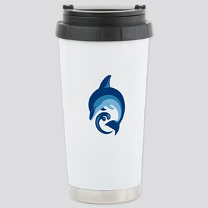 Blue Dolphin Travel Mug