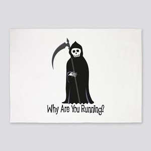Why Are You Running? 5'x7'Area Rug