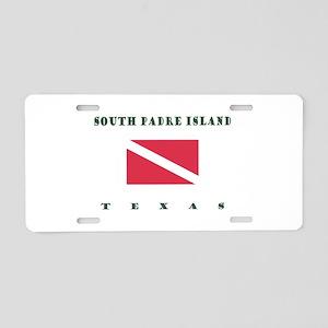 South Padre Island Texas Dive Aluminum License Pla