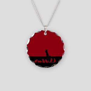 Black Cat silhouette Necklace