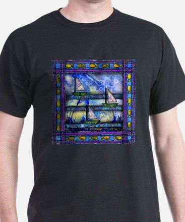 Purple and Blue Quilt T-Shirt