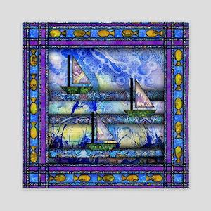Purple and Blue Quilt Queen Duvet