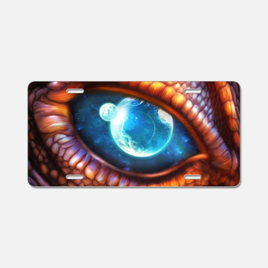 Dragon Eye Aluminum License Plate