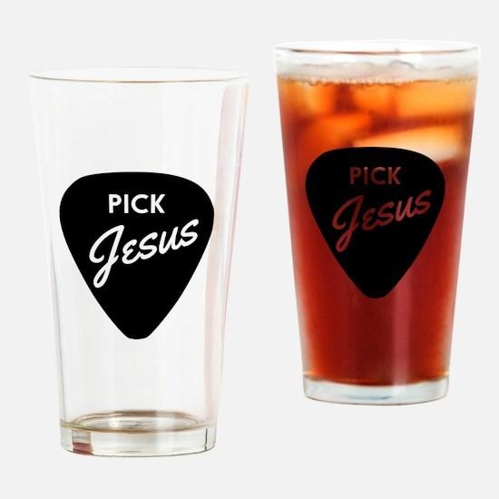Pick Jesus Drinking Glass