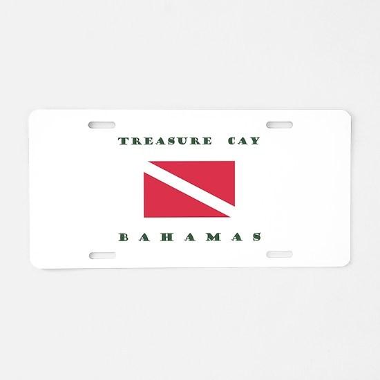 Treasure Cay Bahamas Dive Aluminum License Plate