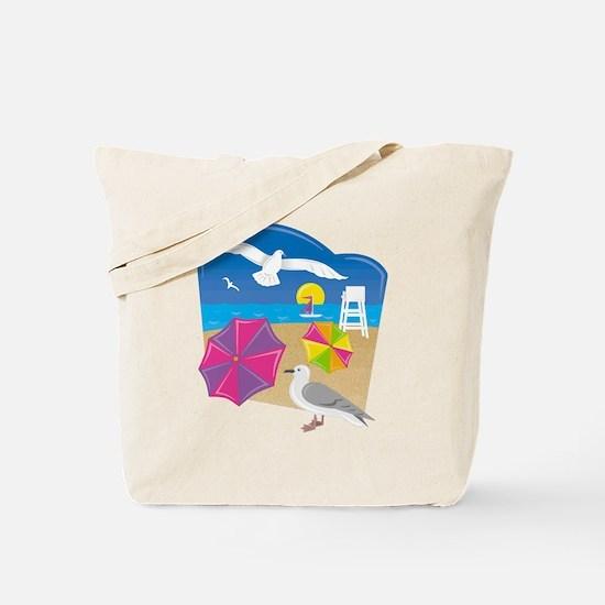 Cute Beach umbrella beach Tote Bag