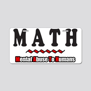 M.A.T.H. Aluminum License Plate