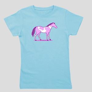 Purple Horse Girl's Tee